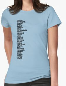 Percy Jackson and the Olympians Characters Womens Fitted T-Shirt