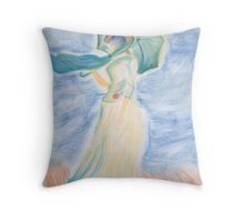 Monet's Woman With Parasol Turned To Left Throw Pillow