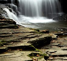 Pure And Tranquil Waterfall by Christina Rollo