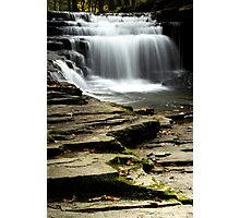 Pure And Tranquil Waterfall Photographic Print