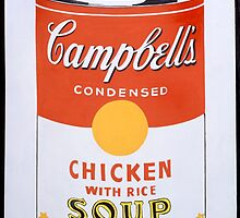 Andy Warhol, Campbell's Soup Can (Chicken With Rice) by GiulyB