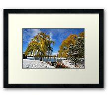 Scenic winter landscape Framed Print