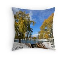 Scenic winter landscape Throw Pillow