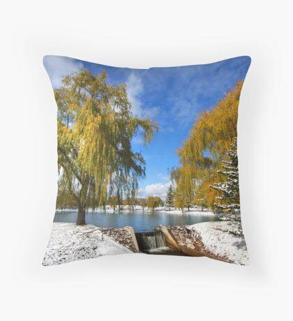 Scenic winter landscape Throw Pillow