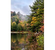 Morning Mist Fall Landscape Photographic Print