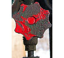 Red Hot Handle Photographic Print