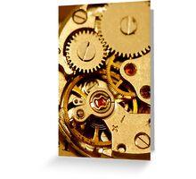 Antique watch mechanism Greeting Card