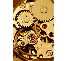 Antique watch mechanism Photographic Print