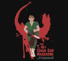 The T. rex Chainsaw Massacre Kids Tee