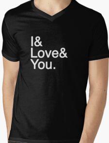I & Love & You Mens V-Neck T-Shirt