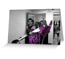 Winter Guard Performers Greeting Card