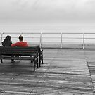 Seat on the pier, Cromer -  Norfolk UK by StephenRB