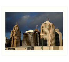 Downtown Detroit Art Print