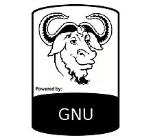 powered by GNU ! Photographic Print