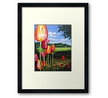 Tulips on the Edge Framed Print