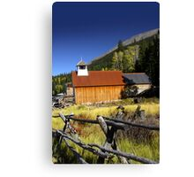 Old church in Colorado Canvas Print