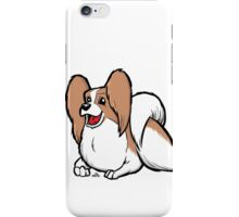 Papillon cartoon dog iPhone Case/Skin