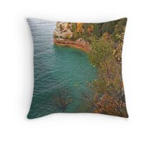 Miners Castle Pictured Rocks Throw Pillow