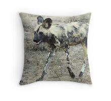 African Wild Dog - Wild Afrika Throw Pillow