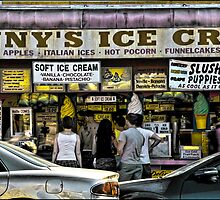 Denny's Ice Cream Shop on Surf Avenue at Coney Island by Chris Lord