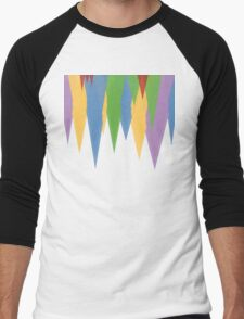 Abstract Icicles Men's Baseball ¾ T-Shirt