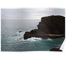 Cliff at Hawaii Kai Poster
