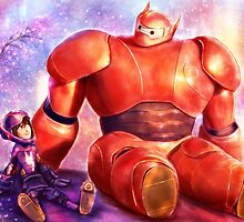 Big Hero 6 - Baymax and Hiro  by p1xer