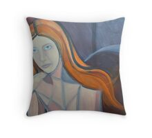 Red Head 2  Throw Pillow