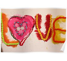 textured love Poster