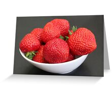 Strawberries :) :) Greeting Card