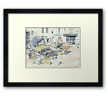 At the Saturday Market, Montbron, France Framed Print