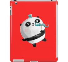 Cute Panda with Mustaches iPad Case/Skin