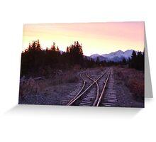 White pass and Yukon railroad at sunrise Greeting Card