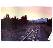 White pass and Yukon railroad at sunrise Poster