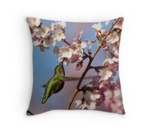 Sipping Nectar From a Floral Cup Throw Pillow