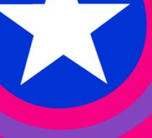 Stars and Stripes- Bisexual Steve Rogers Sticker