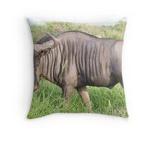 Wildebeest - WildAfrika Throw Pillow