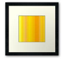 Yellow-Oreange Summer Stripes Framed Print