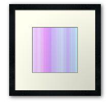 Lilac-Rose Summer Stripes Framed Print