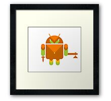 Android Warrior ! Framed Print