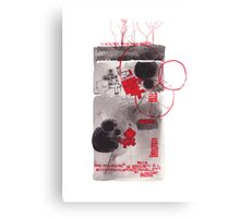 Red Crosses Canvas Print