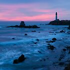 Pigeon Point Lighthouse Dusk-2 by Zane Paxton
