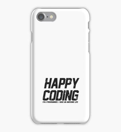 Programmer : Happy Coding iPhone Case/Skin
