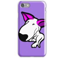 Pink Ears English Bull Terrier Puppy iPhone Case/Skin