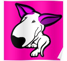 Pink Ears English Bull Terrier Puppy Poster