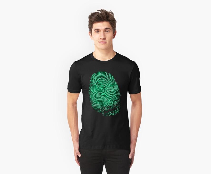 Fingerprint green by Claire Watson