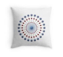 Red, White, and Blue Stars Americana Throw Pillow
