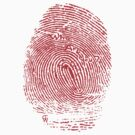 Fingerprint red by Claire Watson