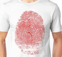 Fingerprint red Unisex T-Shirt