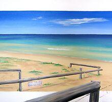 """""""Beach Access"""" by Tania Kay by Taniakay"""